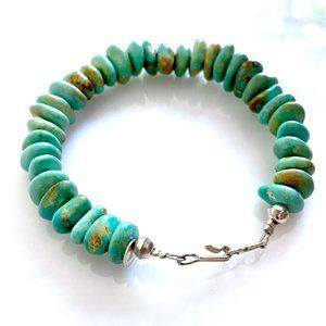 Handcrafted Turquoise Bead Bracelet